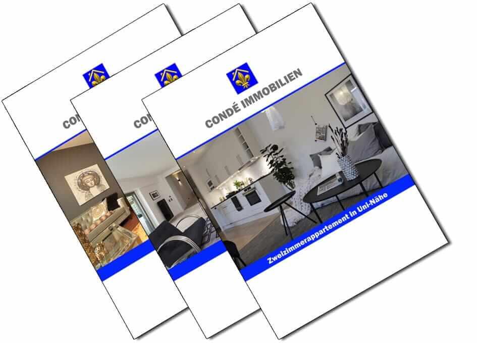 Hochglanz Exposé Broschüren zum Immobilienverkauf